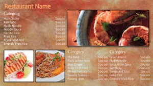 Chic Thai Menu (Orange)