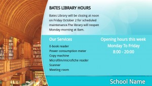 Aqua Library Signage