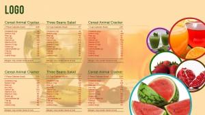 Suave Breakfast Menu (Yellow)
