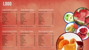 Suave Breakfast Menu (Peach)