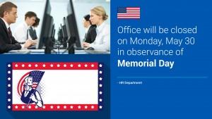 Sheer Memorial Day Sign (Blue)