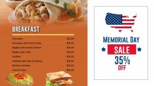 Gentle Memorial Day Menu (Tan)