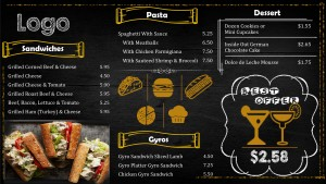 Rustic Fastfood Menu (Yellow)