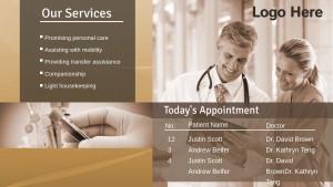 Dynamic Healthcare Sign (Tan)