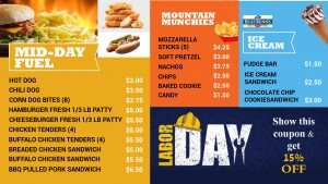 Tabular Labor Day Menu