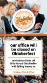 Modest Oktoberfest Sign