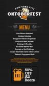 Lurid Oktoberfest Menu (Black)