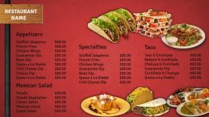 Fervent Mexican Menu (Red)