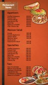 Fervent Mexican Menu (Orange)