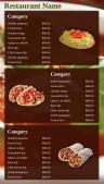 Seduous Fastfood Menu (Red)