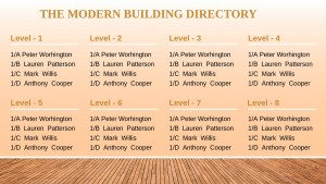 Basal Directory Sign (Wood)