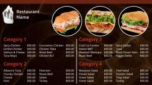 Mystic Sandwich Menu