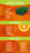 Elemental Juice Menu (Peach)