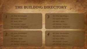 Opulent Directory Sign (Tan)