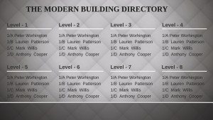 Basal Directory Sign (Tiled)