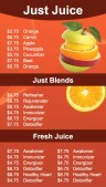 Elemental Juice Menu (Red)