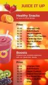 Sleek Juice Menu (Red)