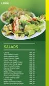 Cardinal Salad Menu (Green)