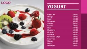 Cardinal Yogurt Menu (Pink)