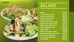 Cardinal Salad Menu (Yellow)