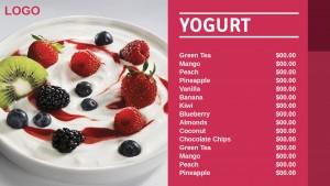 Cardinal Yogurt Menu (Red)