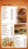 Savory Fastfood Menu (Tan)