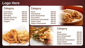 Savory Fastfood Menu (Red)
