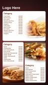 Savory Fastfood Menu (Red)