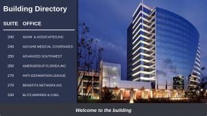 Palatial Directory Sign (Navy)