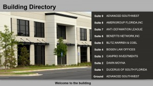 Prolific Directory Sign (Buff)