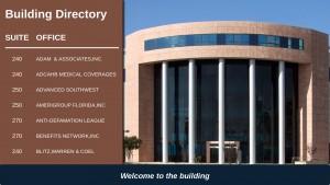 Palatial Directory Sign (Tan)
