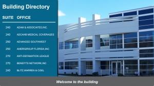 Palatial Directory Sign (Teal)