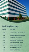 Catenary Directory Sign (Jade)