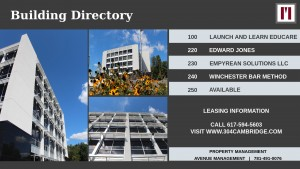 Swank Directory Sign (Grey)