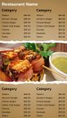 Robust Fastfood Menu (Beige)
