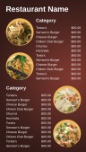 Affable Asian Menu (Red)