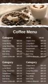 Robust Coffee Menu (Black)