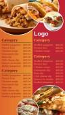 Contempo Fastfood Menu (Red)