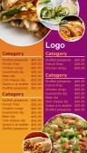 Contempo Fastfood Menu (Lilac)