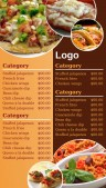 Contempo Fastfood Menu (Beige)