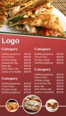 Amiable Fastfood Menu (Red)