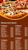 Dynamic Pizza Menu (Brown)