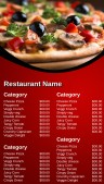 Dynamic Pizza Menu (Red)