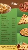 Sharp Pizza Menu (Green)