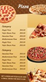 Sharp Pizza Menu (Beige)