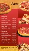 Sharp Pizza Menu (Red)