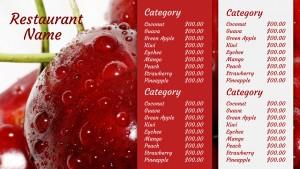 Neoteric Juice Menu (Red)