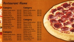 Exquisite Pizza Menu (Orange)