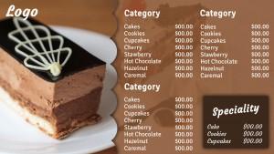 Opulent Dessert Menu (Umber)