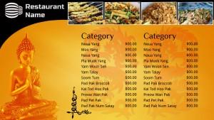 Decorous Thai Menu (Golden)